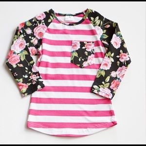 Floral Stripe/Raglan Top. Now available!